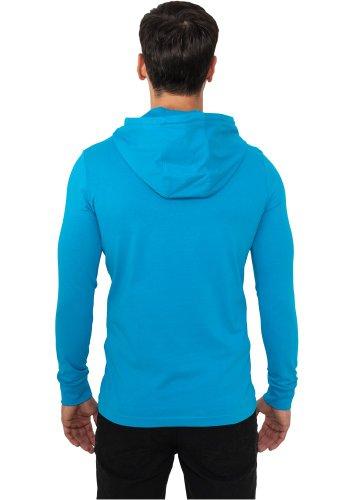 Urban Classics Jersey Hoody Longsleeve grau Turquoise