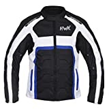 HWK Textile Motorcycle Jacket Cordura Motorbike Jacket Top 100% Waterproof CE Armoured 1