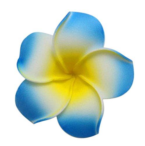Demarkt Plumeria Haarklammern Blume Haar Clip DIY Haarschmuck Blau 4cm