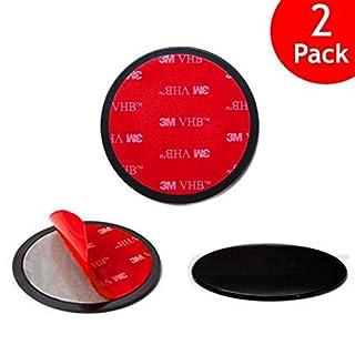 Navitech selbstklebende Platten für das Armaturenbrett 2er Pack (Adhevise disks) für ANNKOO AD01