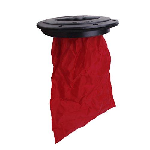 Descripción:     Material: PVC + ABS  Color: Negro, rojo  Diámetro exterior: Aproximadamente 20.5cm / 8.1 pulgadas  Diámetro interior: Aproximadamente 15.6cm / 6.1 pulgadas  Altura: aprox 3.8cm / 1.5 pulgadas  Impacto y resistente a la corrosión ...