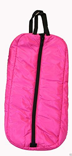 luxe Trensenzaum Halfter Gepolsterte Tasche Aufbewahrung Fall mit Drei Inneren Schlaufen, Hot Pink ()