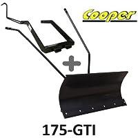 Hoja de nieve 118 cm negra + adaptador para Cooper 175-gti