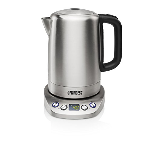 Princess 236002 Hervidora, 2200 W, 1.7 litros, Acero Inoxidable, 1.7 l + Panel Digital