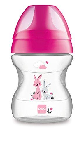 MAM Baby Products 62835122 - Bicchiere per imparare a bere della linea Fashion, bambina, 190 ml, colore: Rosa