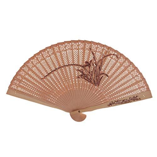 hzeit,Chinesischen Stil Tanz Hochzeitsfeier Bambus Hohle Falthand Blume Fan Carving-Muster Classic,B ()