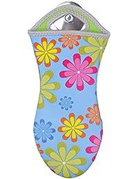 Wenko 2102161100 Gants de Cuisine Néoprène Motif Fleur Multicolore Dimensions 32 x 1 x 1,5 cm Lot de 2