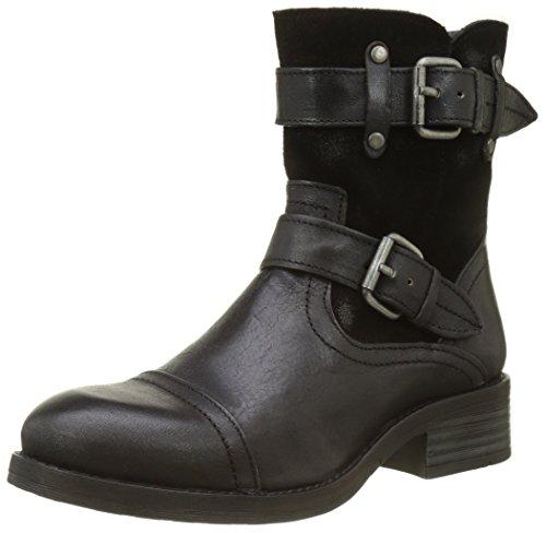 Buffalo London Damen ES ES 30933 JAMATA Suede Biker Boots, Schwarz (Preto 01), 38 EU