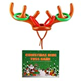 LOKIPA Christmas Inflatable Reindeer Antler Ring Toss Games For Christmas Family Party Fun Games