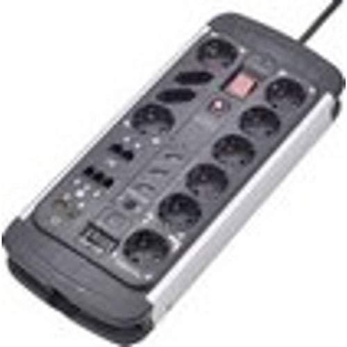 Renkforce 1015A-CMB-SXMS Master/Slave-Steckdosenleiste 10fach Schwarz, Aluminium Schutzkontakt