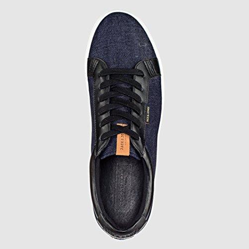 Jack & Jones Mann Flache Sneakers Jj Sable , Canvas Blau/Grau