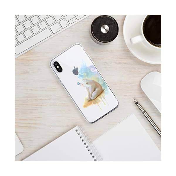 Oihxse Compatible with iPhone XR 6.1'' Case Cover Crystal Clear Ultra Slim Lightweight Soft TPU Gel Bumper, Chic Fashion Pattern Design Transparent [Original Beauty] Shockproof Skin, White Bear Oihxse ✨【SLIM FIT】ONLY compatible with iPhone XR without bubbles, bubbles smudges, slippy and clinging, which provide a great hand feel & comfortable grip, easy put in and take off from pockets. ✨【CRYSTAL CLEAR】Cute and stylish pattern prints on the crystal transparent slim IPhone XR case, not only shows off the original beauty but adds more chic, fashion and elegant sense, makes you stand out from crowd and eye-catching. ✨【PREMIUM MATERIAL】Made from nontoxic and tasteless flexible TPU material, non fade and peel off. It can resist Iphone XR bumps, drops, scratches, impacts, shocks and fingerprint. 3