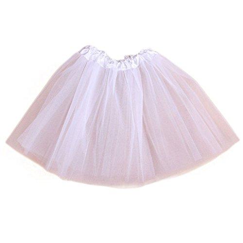 wuayi Baby Mädchen (0-24 Monate) Schlafstrampler weiß weiß (Taille Weiße Neue Uniform Elastische)