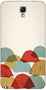 Timpax Light Weight Hard Back Case Cover Printed Design : Rain and umbrellas.Specifically Design For : Samsung GALAXY Note 3 Neo ( SM-N7505 )