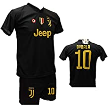 76611c297b7373 Completo Terza Maglia Juventus Nera Paulo Dybala 10 Joya + Pantaloncino  Nero con Logo JJ Giallo