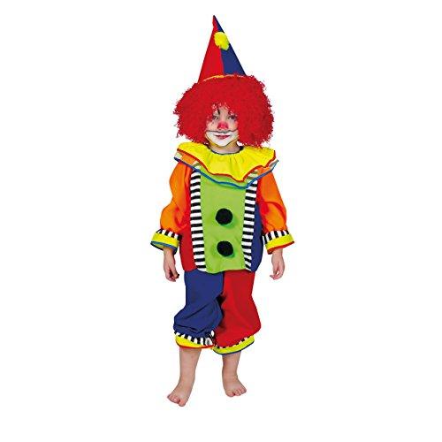 Kostümplanet® Clown-Kostüm Baby Klein-Kinder-Kostüm Faschingskostüm Größe 104 (Zirkus Clown Kleinkind Kostüme)