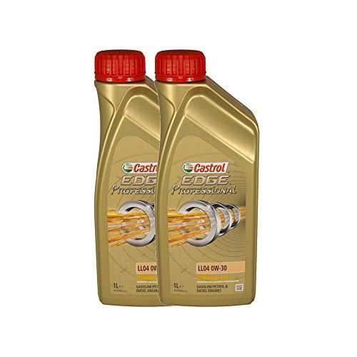 Castrol EDGE Professional Longlife 04 0W30 - Olio per Auto, Lubrificante a Lunga Durata Titanium 0W-30 2 Litri