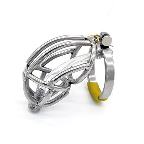 GHD D Felice Fibbia in Metallo con catetere in Acciaio Inossidabile - Intimo Uomo (48mm)