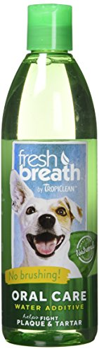 Tropiclean oxymed frischen Atem Plaque Entferner Pet Wasser Additiv Klauenhammer, (Conditioner Dog Cat)