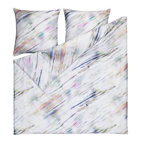 ESTELLA Mako-Satin Bettwäsche Watercolor Multicolor 1 Bettbezug 155 x 220 cm + 1 Kissenbezug 80 x 80 cm -