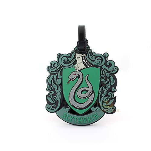 Etiqueta de equipaje Slytherin Harry Potter, color verde - Cinereplica