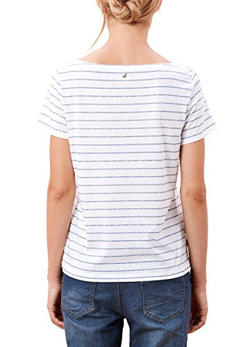 s.Oliver T-Shirt Donna Avorio (creme placed print 02D1)
