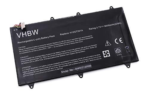 vhbw Li-Polymer Akku 6000mAh (3.7V) schwarz für Notebook Laptop Netbook Pad Tablet Lenovo IdeaPad A2109A-F, A2109, A2109 9