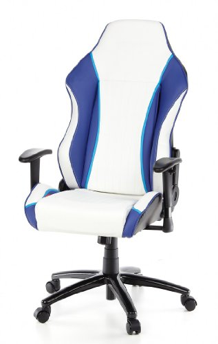 Hjh Office Daytona Silla de oficina Multicolor (Black/White/Blue) 52x63x143 cm