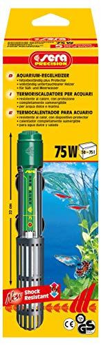 sera 8715 Regelheizer 75W (für 75 Liter) Qualitätsheizer mit schockresistentem Quarzglas, Präzisions-Sicherheitsschaltung und Sicherheits-Protector