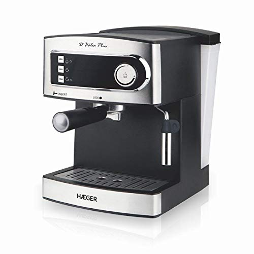 Kaffeemaschine HAEGER ESPRESSO D'ITALIA PLUS 850W 15bar Wassertank 1,60l Tropfband hitzebeständig
