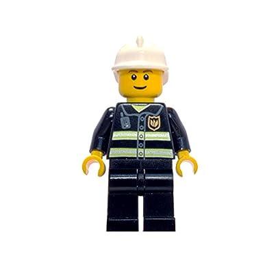 Reloj modificable infantil de bombero de Lego City con pulsera por piezas y figurita; rojo/amarillo; plástico; 28 mm de diámetro; Cuarzo analógico| chico chica; oficial