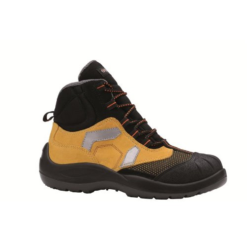 Base protection chaussures hautes de sécurité en tissu technique et nabutek hydrofuge de haute qualité extraflex. Avec embout acier, Lamina roulage. Catégorie S3SRC.