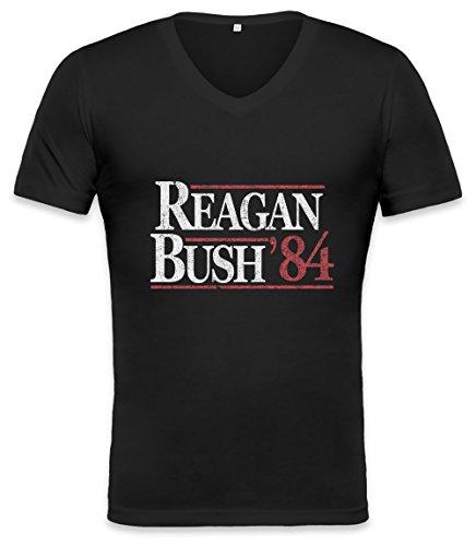 Vintage Reagan Bush Unisex V-neck T-shirt XX-Large (Reagan-bush-tank-top)
