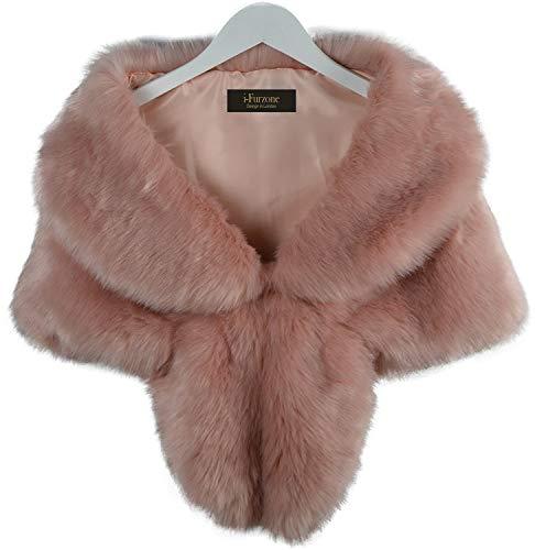 I-Furzone warm Faux Fur boda chal abrigo perfecto