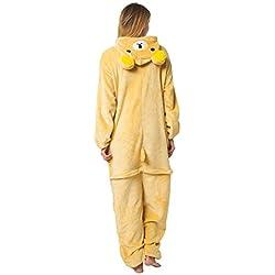 Katara 1744 - Kigurumi Pijamas Disfraz de Animal - Traje de Noche con Capucha - Adultos Unisexo - Oso Rilakkuma, L