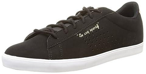Le Coq Sportif Agate Lo, Sneakers Basses femme, Noir (Black/Rose Gold), 39 EU