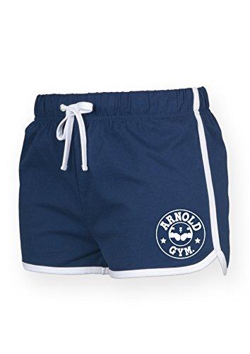 Arnold Gym - Short de sport - Femme noir noir bleu marine/blanc