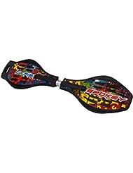 Spokey Waveboard Planche à roulettes Skateboard Streetboard dans différentes couleurs, jusqu'à 100kg, avec étui de protection, Streetsurfing