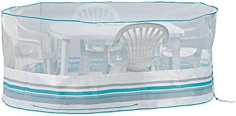 FLORABEST® Ovale Gartentisch-Abdeckhaube (ca. L 230 x B 160 x H 90 cm)