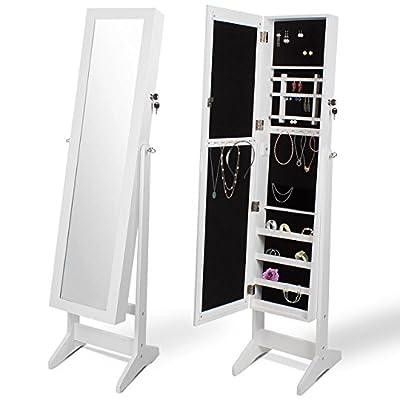 Homelux Schmuckschrank Spiegelschrank Standspiegel Schmuckkasten JMC in Weiß von Homelux auf Spiegel Online Shop