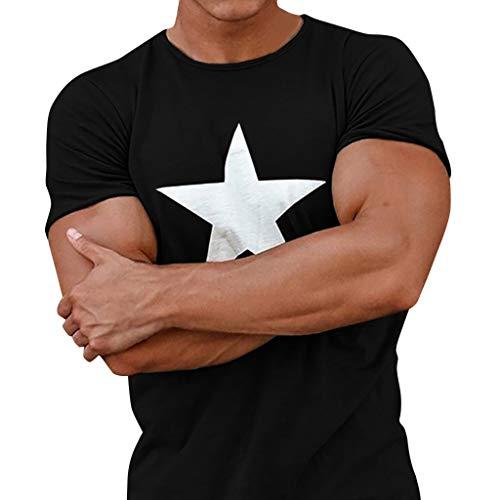 T-Shirt Homme Pas Cher - Marque T-Shirts 2019 D'été À Manches Courtes O-Cou Imprimé Lâche Mince T-Shirt Hommes Tops T