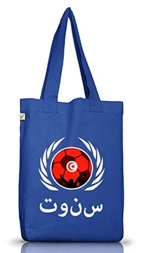 Tunisia Fussball WM Fanfest Gruppen Jutebeutel Stoffbeutel Earth Positive Fußball Tunesien Bright Blue