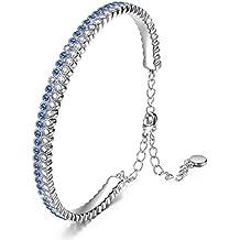 """J.NINA """"Galaxy"""" Zafiro Tenis Pulseras Mujer fabricados con cristales SWAROVSKI® - Regalos Joyería Mujer"""
