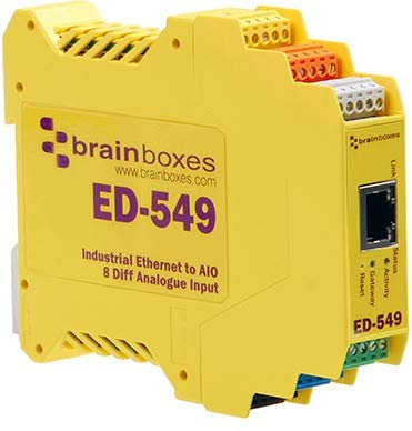 Brainboxes RS485 Ethernet zu 8 Analog Input-Adapter Internet-video-monitoring-system