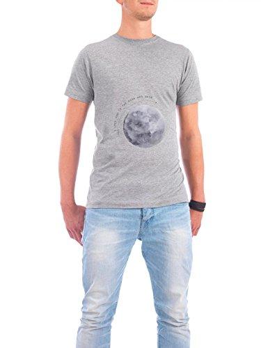 """Design T-Shirt Männer Continental Cotton """"Moon"""" - stylisches Shirt Typografie Liebe von Maren Kruth Grau"""