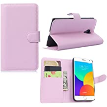 Guran® Funda de Cuero Para Meizu MX4 Pro (5,5 pulgada) Smartphone Tirón de la Cubierta de la Función de Ranura Tarjetas y Efectivo Caso
