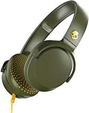 Skullcandy S5PXY-M687 Riff On-Ear Headphones with Microphone - Moss/Olive/Yellow (Pack of 1)
