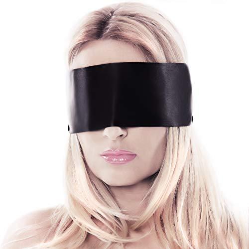liebesfreunde® Augenbinde Sex Augenmaske - Blindfold I Eye mask aus Satin - Bondage Sexspielzeug für Paare - schwarz