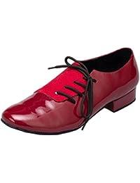 Minitoo diseño para hombre de zapatos de danza de los dedos de los pies de piel sintética redondo de