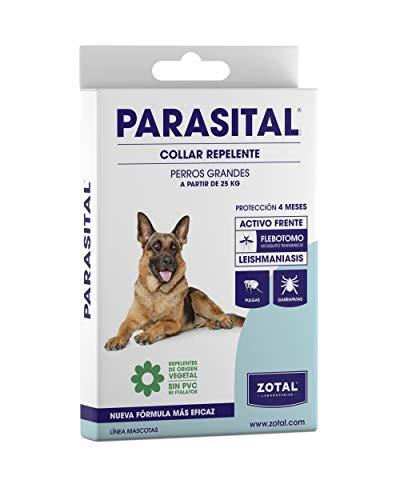 Zotal - Parasital Collar Antiparasitario de 75 cm para perros grandes